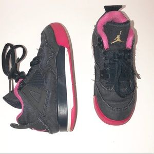Jordan Retro IV 4 Denim Blue Pink Girls Size 11C